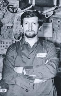 Центральный пост. Командир атомной субмарины «К-492» капитан 2 ранга Владимир Дудко. Сентябрь 1982 года. Фото из архива автора