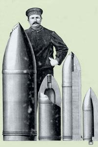 Артиллерийские снаряды времен Первой мировой войны. Плакат 1918 года