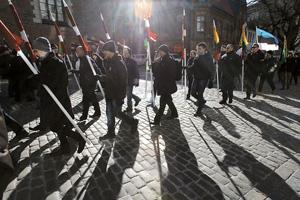 Тени прошлого в Риге, где в марте вновь с ностальгией вспоминали легионеров из Ваффен-СС. Фото Reuters