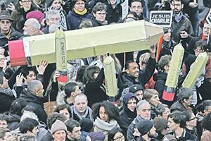 Французы вышли отстаивать свободу слова, а не бороться с терроризмом. Фото Reuters