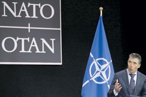 Генеральный секретарь НАТО Андерс Фог Расмуссен не устает напоминать европейцам, что НАТО все еще остается наиболее важной военной силой в мире. Фото Reuters