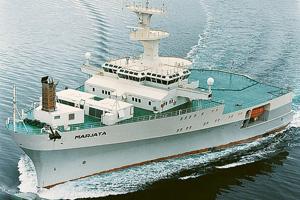 Разведывательное судно «Марьята» в Баренцевом море следит за надводной и подводной обстановкой в районе российских территориальных вод. Фото с сайта www.schottel.de