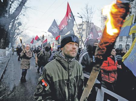 Националисты готовятся взять власть на Украине в свои руки. Фото Reuters