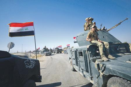 Октябрь 2017 года. Иракская армия отбирает Киркук обратно. Фото Reuters