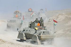 Наступление на Мосул ведется по канонам тактики, обычной для военной школы США.  Фото Reuters