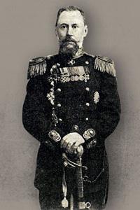 Капитан 1 ранга Евгений Голиков. Фото 1905 года