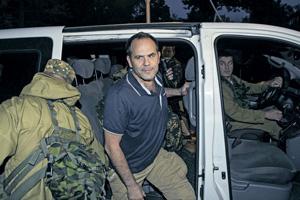 Ополченцы самопровозглашенных республик в конце концов освободили задержанных наблюдателей ОБСЕ. Фото Reuters