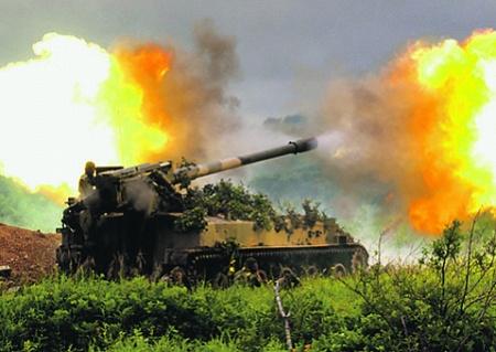 САУ, ВС РФ, ИСУ-122, ИСУ-152, СССР, гаубицы, артиллерия, огневой вал, тактика